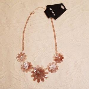 Torrid blush floral statement necklace